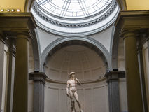 Michelangelo David statue in Accademia, Florence, Italy Royalty Free Stock Photo