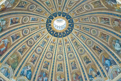 The Michelangelo designed Cupola of St. Peter's Cathedral. Royalty Free Stock Images