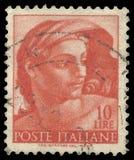 Michelangelo, Frescos, Head of naked Royalty Free Stock Photos