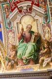 Michelangelo målningar på det Sistine kapellet (Cappella Sistina) - Vaticanen, Roma - Italien Royaltyfri Foto