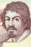 Michelangelo Merisi da Caravaggio portrait. From Italian money Stock Images