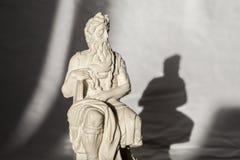 Michelangelo Moses-beeldhouwwerk, zeer populair als herinnering van Rome Royalty-vrije Stock Afbeeldingen