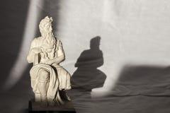 Michelangelo Moses-beeldhouwwerk, zeer populair als herinnering van Rome Royalty-vrije Stock Foto's