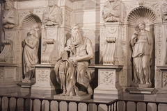 Michelangelo Moses Tomb von Papst Julius II. - Rom Lizenzfreie Stockfotografie