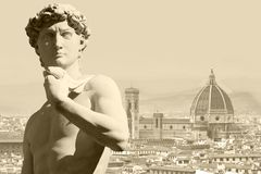 Michelangelo ` s David royalty-vrije stock foto