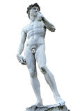 Michelangelo's David isolated on white with clipping path. Piazza della Signoria, Firenze, Italy (clipping path) Stock Images