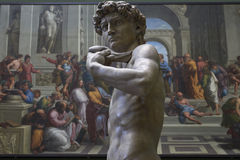 Michelangelo's David plaster cast Royalty Free Stock Images