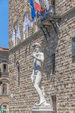 Michelangelo's David statue in Florence, Italy Royalty Free Stock Photo