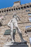Michelangelo's David statue in Florence, Italy Stock Photos