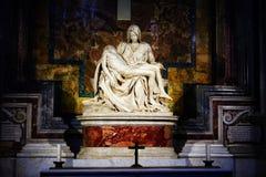 Michelangelo's famous Pieta in St. Peter's Basilica in Vatican Stock Photography