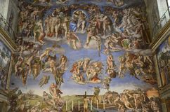 Michelangelos Last Judgement rare photo Royalty Free Stock Photos