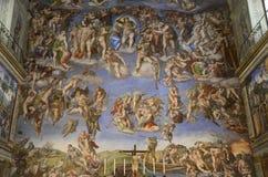 Michelangelos Last Judgement rare photo royalty free stock photos