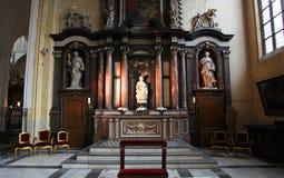 Michelangelo ` s Madonna και γλυπτό παιδιών στη Μπρυζ, Βέλγιο Στοκ εικόνα με δικαίωμα ελεύθερης χρήσης