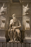 Michelangelo's Moses. Statue in the church of San Pietro in Vincoli in Rome royalty free stock photos