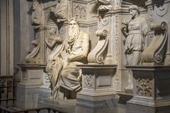 Michelangelo`s Moses in the basilica. San Pietro In Vincoli, Rome, Italy Stock Photography
