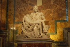 Michelangelo's pieta. The pieta (piety) of Michelangelo inside S. Peter in Vatican Royalty Free Stock Image