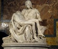 Michelangelo`s Pieta royalty free stock photo