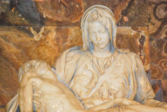 The Michelangelo's Pieta in St. Peter's Basilica Royalty Free Stock Photo