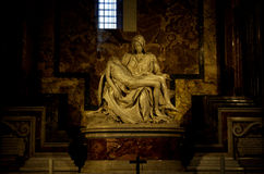 Michelangelo's Pieta in St. Peter's Basilica in Vatican Royalty Free Stock Photography