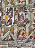 Michelangelo s Sistine kapellmålningar Royaltyfri Bild
