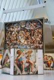 Michelangelo ` s Sistine kaplicy Up Zamknięta wystawa Westfield bierze miejsce przy world trade center Oculus w Nowy Jork Fotografia Royalty Free