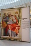 Michelangelo ` s Sistine kaplicy Up Zamknięta wystawa Westfield bierze miejsce przy world trade center Oculus w Nowy Jork Obraz Stock