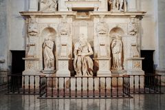 Michelangelo`s statue of Moses, ROME, ITALY royalty free stock image