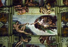 Michelangelo: Schaffung von Adam, Vatikan Lizenzfreies Stockfoto