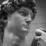 Michelangelo's replica David statue Royalty Free Stock Images