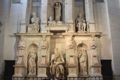 Michelangelos Skulptur von Mosese Lizenzfreie Stockfotografie