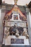 Michelangeo Buonarroti gravvalvbasilika av Santa Croce - Florence royaltyfri bild