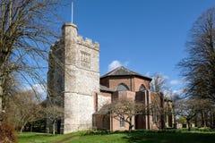MICHELDEVER, HAMPSHIRE/UK - 21. MÄRZ: Ansicht von St- Mary` s Kirche Stockfotografie