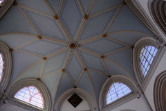 MICHELDEVER, HAMPSHIRE/UK - MARCH 21 : The Ceiling in St Mary`s Royalty Free Stock Images