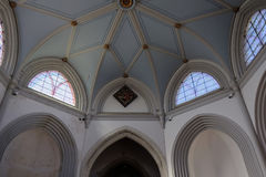 MICHELDEVER, HAMPSHIRE/UK - MARCH 21 : The Ceiling in St Mary`s Stock Image