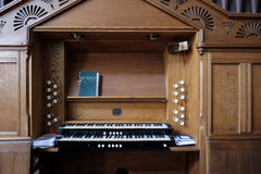 MICHELDEVER, HAMPSHIRE/UK - MARCH 21 : The Organ in St Mary`s Ch Royalty Free Stock Photography
