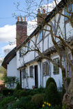 MICHELDEVER, HAMPSHIRE/UK - MARCH 21 : View of a Thatched Cottag. E in Micheldever Hampshire on March 21, 2017 royalty free stock photo