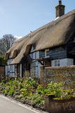 MICHELDEVER, HAMPSHIRE/UK - MARCH 21 : View of a Thatched Cottag. E in Micheldever Hampshire on March 21, 2017 stock photo