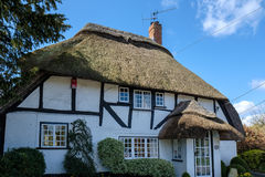 MICHELDEVER, HAMPSHIRE/UK - MARCH 21 : View of a Thatched Cottag Stock Image