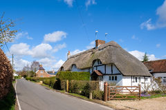 MICHELDEVER, HAMPSHIRE/UK - MARCH 21 : View of a Thatched Cottag Royalty Free Stock Photography