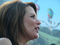 Michele Bachmann. Is a former Member of the House of Representative`s who ran as a candidate for the Republican Party in 2012 in the United States of America Royalty Free Stock Photos