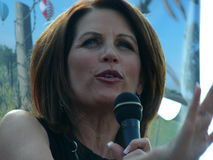 Michele Bachmann. Is a Republican politician from Minnesota, that served in Congress Royalty Free Stock Photography