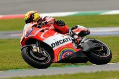 Michele Pirro DUCATI MotoGP GP van de Kring van Mugello van Italië 2013 Stock Afbeelding