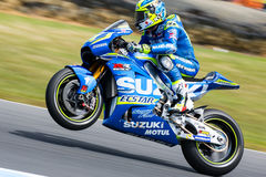 2016 Michelin Australian Motorcycle Grand Prix. MELBOURNE, AUSTRALIA – OCTOBER 23: Aleix Espargaro (ESP) riding the # 41 Team Suzuki Ecstar's Suzuki during the Stock Images