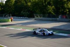 Michelin Le Mans Cup sportprototyp i handling Arkivbilder