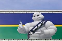 Michelin logo på en vägg Royaltyfri Fotografi