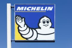 Michelin logo on a pole Royalty Free Stock Images