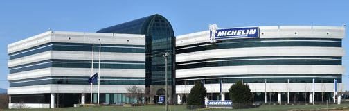 Michelin North America Headquarters in SC. Michelin North America Headquarters in Greenville SC USA is pictured. Michelin opened their first US plants in the stock photos