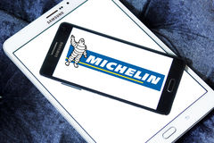 Michelin tyres manufacturer logo Stock Photography