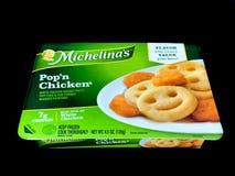 Michelina` s Pop ` n Kip Bevroren Diner stock afbeeldingen