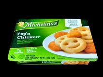 Michelina ` s wystrzału ` n kurczak Marznący gość restauracji obrazy stock
